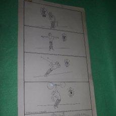 Cómics: DIVERTIDO DIBUJO TINTA -ENTRENAMIENTO- ORIGINAL ILUSTRACIÓN VIÑETA 1946 FIRMADO MIRCO GIMNASIO PESAS. Lote 54418731