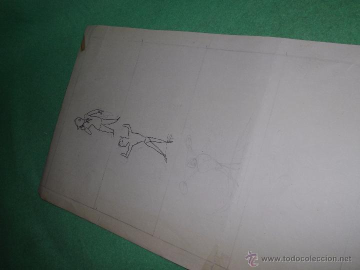 Cómics: Divertido dibujo tinta -entrenamiento- original ilustración viñeta 1946 firmado Mirco gimnasio pesas - Foto 5 - 54418731