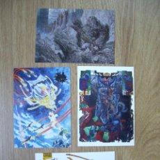 Cómics: TRADING CARD DE MICHAEL KALUTA. 4 CROMOS CARDS. . Lote 54576607