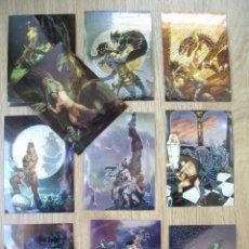 Cómics: TRADING CARD DE CONAN III CHROMIUM. 10 CROMOS CARDS CON ILUSTRACIONES DE GRANDES ILUSTRADORES.. Lote 173316314