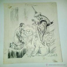 Cómics: JAIME JUEZ CASTELLÁ - XIRINIUS (BARCELONA 1906 - 2002) DIBUJO ORIGINAL A TINTA ALADINO TEXTO. Lote 54851115