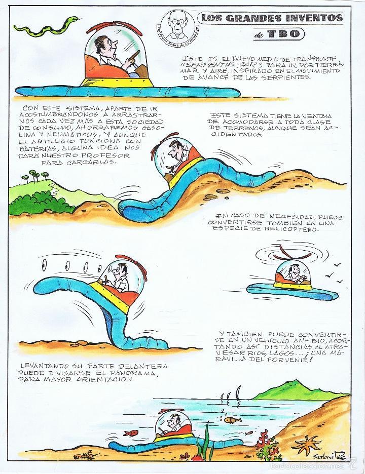 SABATES GRANDES INVENTOS DEL TBO (Tebeos y Comics - Comics - Art Comic)