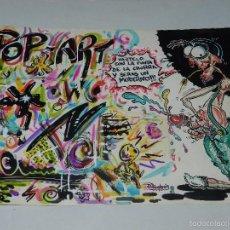 Cómics: (D210) DIBUJO ORGINAL DE D MONROS 1982 , DIBUJANTE DE MAKOKI , 46 X 33 CM, BUEN ESTADO. Lote 55122876