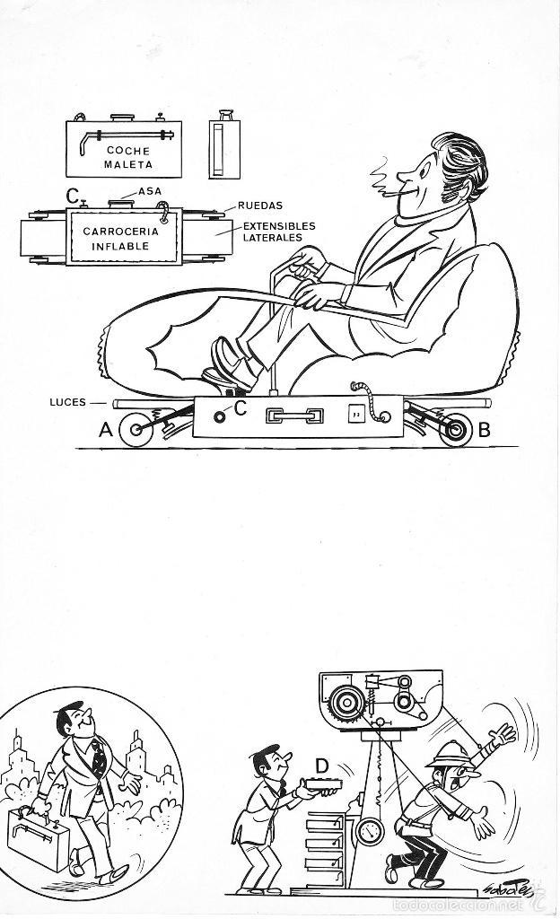 SABATES GRANDES INVENTOS DEL TBO COCHE MALETA (Tebeos y Comics - Comics - Art Comic)