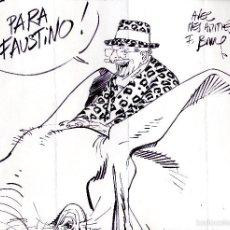 Cómics: ART COMIC FRANCOIS BOUCQ ORIGINALTAMAÑO DIN A3. Lote 55933994