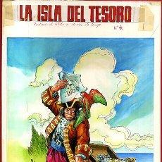 Cómics: DIBUJO ORIGINAL COLOR, PORTADA LIBROS GRAFICOS Nº 4 , LA ISLA DEL TESORO , ORIGINAL , J. Lote 56125828