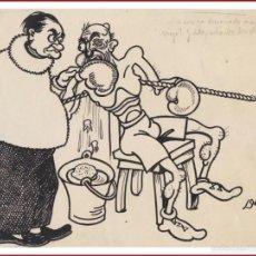 Cómics: DIBUJO ORIGINAL DE DELMÓN REALIZADO EN LOS AÑOS 1930, PARA UN CHISTE. Lote 56270161