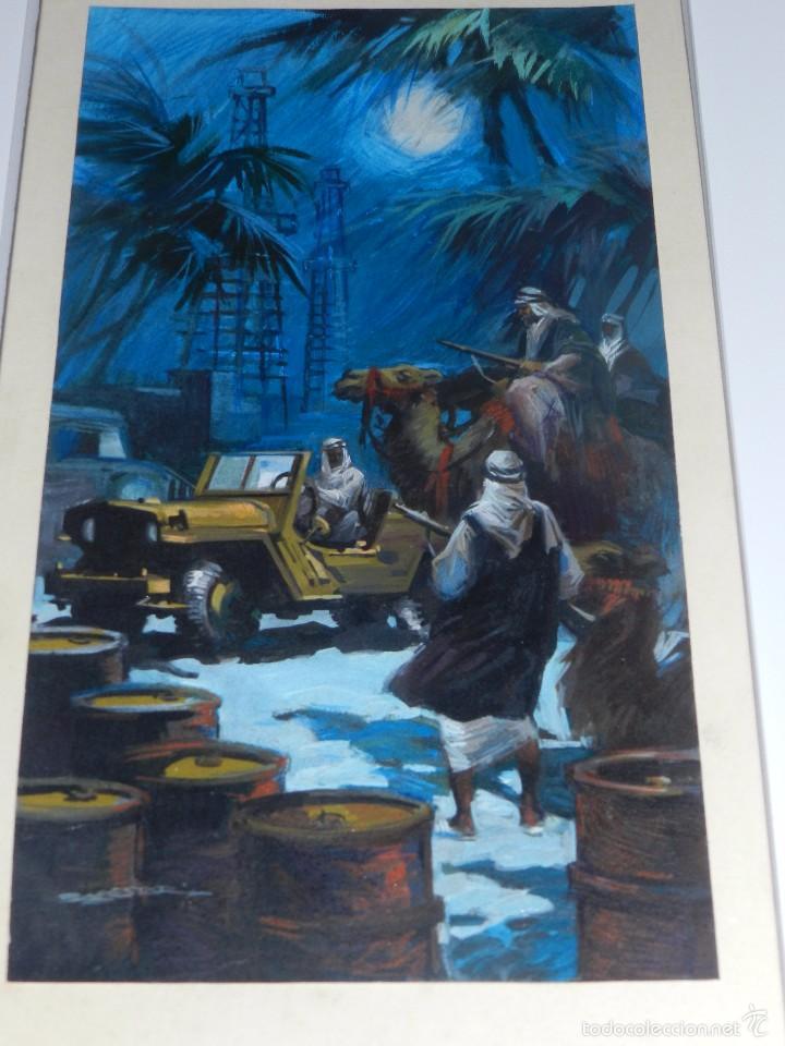 (LB3) DIBUJO ORIGINAL DE BALLESTAR - MEDIDAS DEL DIBUJO 37 X 20 CM, BUEN ESTADO (Tebeos y Comics - Art Comic)