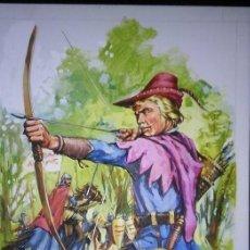 Cómics: ROBIN HOOD. PORTADA ORIGINAL DE JAVIER DE VILLA. 1976. Lote 56977543