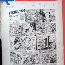 Cómics: DIBUJO ORIGINAL PLUMILLA , LUIS BERMEJO , REHABILITADO POR EL DESTINO , 1948 , 2 HOJAS . J. Lote 57041004