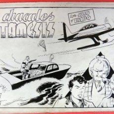 Cómics: DIBUJO ORIGINAL PLUMILLA, EDMUNDO MARCULETA, JULIO Y RICARDO Nº 14 , PORTADA Y 8 HOJAS , J. Lote 57109505