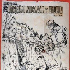 Cómics: DIBUJO ORIGINAL PLUMILLA , VAÑO , PORTADA ROBERTO ALCAZAR Y PEDRIN EXTRA Nº 16 , J. Lote 57121900