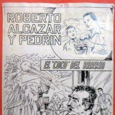 Cómics: DIBUJO ORIGINAL PLUMILLA , VAÑO , PORTADA ROBERTO ALCAZAR Y PEDRIN EXTRA Nº 73 , J. Lote 57121958