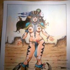 Cómics: GRAN SPIRITU - BONITO ORIGINAL FIRMADO. A4 PAPEL DE CALIDAD. TECNICA TINTA Y ACUARELA.. Lote 57185784