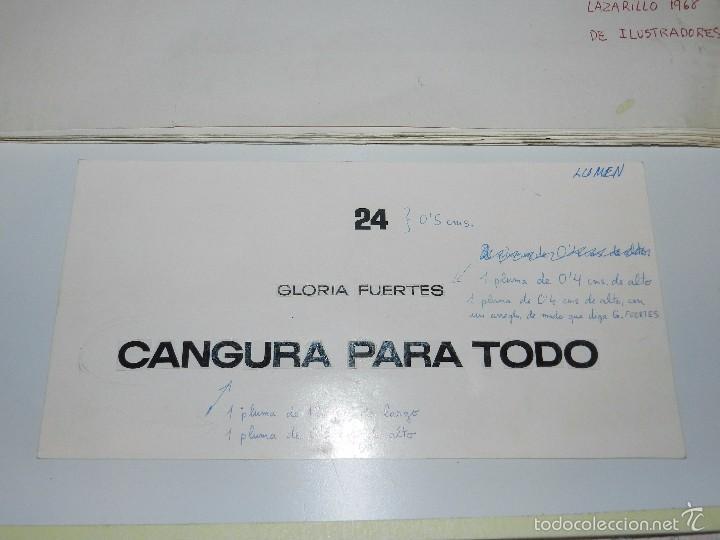 Cómics: 43 DIBUJOS DE MARCEL PARA ILUSTRAR EL LIBRO CANGURA PARA TODO DE GLORIA FUERTES - Foto 3 - 57234964