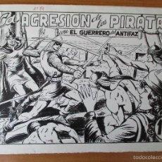 Cómics: EL GUERRERO DEL ANTIFAZ Nº 89. PLANCHAS ORIGINALES: PORTADA + 10 PÁGINAS.. Lote 57770220