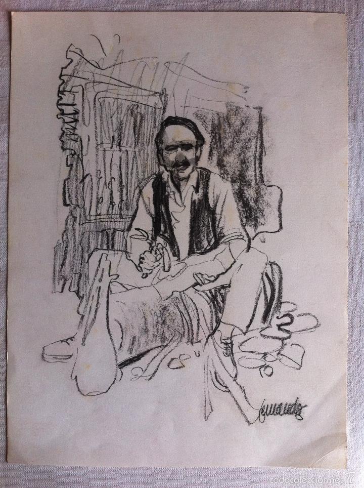 DIBUJO ORIGINAL FIRMADO - FERNANDO FERNANDEZ (1940-2010) - 44 X 32 CMTS. (Tebeos y Comics - Art Comic)