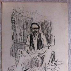 Cómics: DIBUJO ORIGINAL FIRMADO - FERNANDO FERNANDEZ (1940-2010) - 44 X 32 CMTS.. Lote 58143921