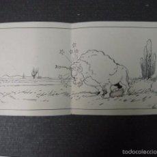 Cómics: MORENO - DIBUJO ORIGINAL A PLUMA - CACERIA DEL BISONTE - VER FOTOS-MIDE 17X46 CM.- (V-6382) . Lote 58189205