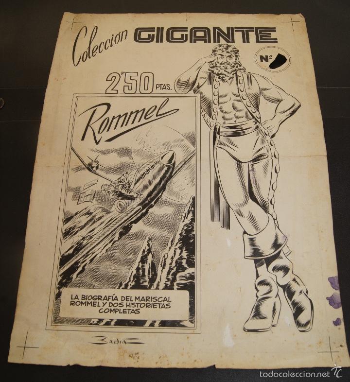 ORIGINAL BADIA ENRIQUE BADIA ROMERO PORTADA COLECCION GIGANTE (Tebeos y Comics - Art Comic)