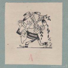 Cómics: ANTONI ROCA MARISTANY (1895-1977). ORIGINAL TINTA CHINA. 11 X 11 CTMS. AVI BARÇA. AÑOS 1940S. Lote 58395790