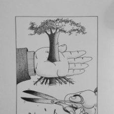 Cómics: DIBUJO ORIGINAL HUMORISTA GRAFICO CUBANO GELICO. Lote 58519841