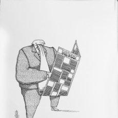 Cómics: DIBUJO ORIGINAL - HUMORISTA GRAFICO CUBANO GELICO. Lote 58519860