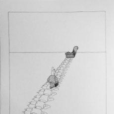 Cómics: DIBUJO ORIGINAL - HUMORISTA GRAFICO CUBANO GELICO. Lote 58519866