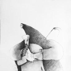 Cómics: DIBUJO ORIGINAL - HUMORISTA GRAFICO CUBANO GELICO. Lote 58519874