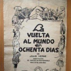 Cómics: LA VUELTA AL MUNDO EN OCHENTA DÍAS. HISTORIA COMPLETA EN 33 PÁGINAS. PLANCHAS ORIGINALES.. Lote 60130263