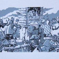 Cómics: MIX MIX. SERIGRAFÍA LA CROISADE DU CHEVALIER GAUDIN. FIRMADA. FRANCIA 1985. Lote 60899363
