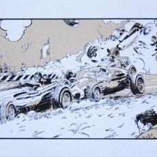 Cómics: DENIS SIRE. SERIGRAFÍA THE LAST ROADSTER. FIRMADA. FRANCIA 1985. Lote 60969539