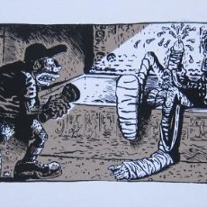 Cómics: VUILLEMIN. SERIGRAFÍA LE VERITABLE SECRET DE LA PYRAMIDE. FIRMADA. FRANCIA 1985. Lote 60969567