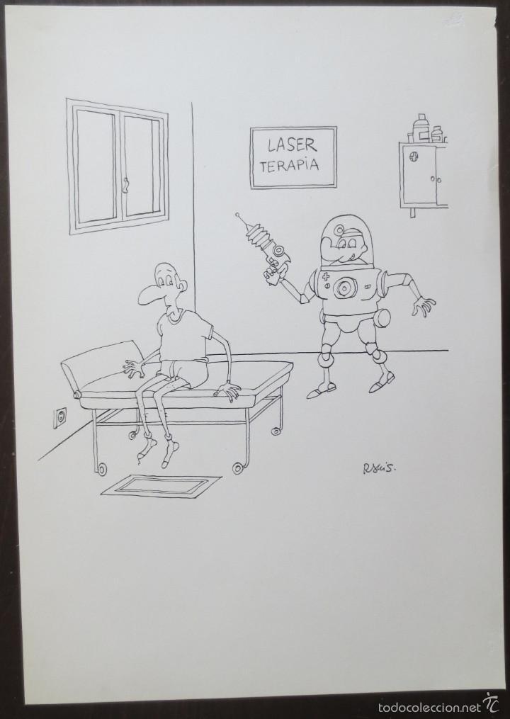 DIBUJO ORIGINAL RAMIS (Tebeos y Comics - Art Comic)