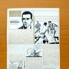 Cómics: DIBUJO ORIGINAL DE SERRANO - MERODIO - FLECHA ROJA REVISTA - EDITORIAL MAGA 1962. Lote 61270571