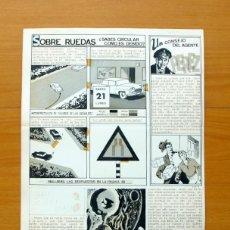 Cómics: DIBUJO ORIGINAL DE SERRANO - FLECHA ROJA, REVISTA Nº 57 - EDITORIAL MAGA 1962. Lote 61308247