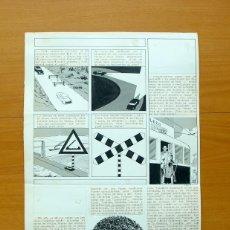 Cómics: DIBUJO ORIGINAL DE SERRANO - FLECHA ROJA, REVISTA Nº 53 - EDITORIAL MAGA 1962. Lote 61308411