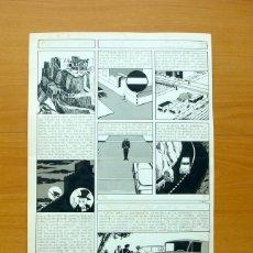 Cómics: DIBUJO ORIGINAL DE SERRANO - FLECHA ROJA, REVISTA Nº 49 - EDITORIAL MAGA 1962. Lote 61308571