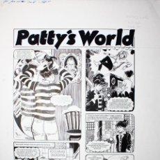 Cómics: PAGINA ORIGINAL. ESTHER Y SU MUNDO (PATTY'S WORLD AÑO 1982) DE PURITA CAMPOS. Lote 61527051