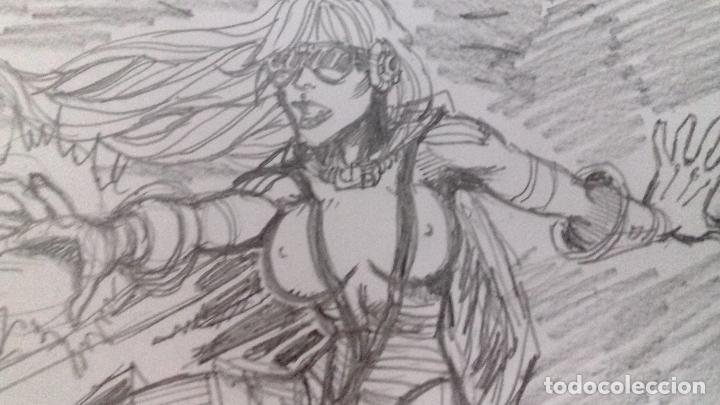 SUPERCHICA - BOCETO PREVIO. LAPIZ. ORIGINAL FIRMADO. A4. (Tebeos y Comics - Art Comic)
