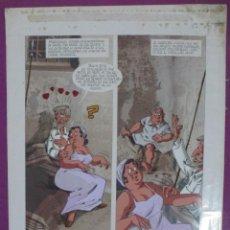 Fumetti: DIBUJO ORIGINAL DON QUIJOTE DE LA MANCHA, PINTADO A MANO, DEHESA DE BELVIS, VOL. 1 - PAG.220. Lote 65316955
