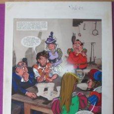 Cómics: DIBUJO ORIGINAL DON QUIJOTE DE LA MANCHA, PINTADO A MANO, VOL.2. Lote 66467074
