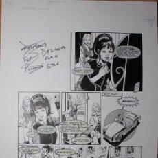 Comics : PAGINA ORIGINAL. DESIGNED FOR A STAR. PRINCESS TINA. AUTOR RODRIGO COMOS. FIRMADA. Lote 66832910
