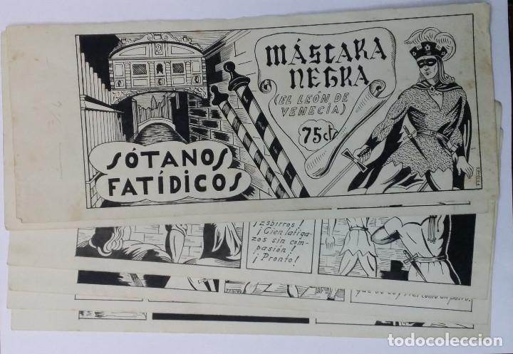 MASCARA NEGRA 1 - PORTADA Y PAGINAS - ORIGINAL - COMPLETO (Tebeos y Comics - Art Comic)