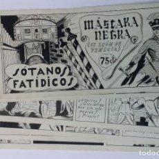 Cómics: MASCARA NEGRA 1 - PORTADA Y PAGINAS - ORIGINAL - COMPLETO. Lote 67246437