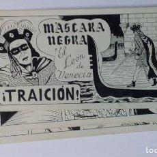 Cómics: MASCARA NEGRA 2 - PORTADA Y PAGINAS - ORIGINAL - COMPLETO. Lote 67247041