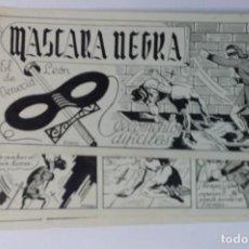 Cómics: MASCARA NEGRA 4 - PORTADA Y PAGINAS - ORIGINAL - COMPLETO. Lote 67247565