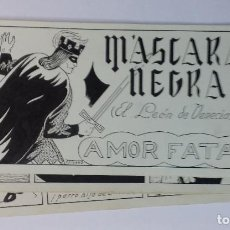 Cómics: MASCARA NEGRA 6 - PORTADA Y PAGINAS - ORIGINAL - COMPLETO. Lote 67248577