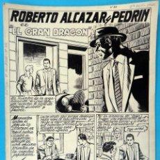 Cómics: DIBUJO ORIGINAL PLUMILLA, VAÑO , ROBERTO ALCAZAR EXTRA Nº 33 , 7 HOJAS ,ORIGINAL, K. Lote 67317805