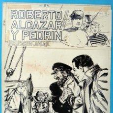 Cómics: DIBUJO ORIGINAL PLUMILLA, VAÑO , PORTADA ROBERTO ALCAZAR EXTRA Nº 84 ,ORIGINAL, K. Lote 67318881